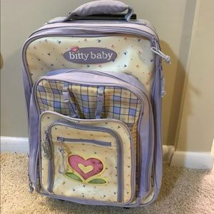 Bitty Baby American Girl Suitcase Roller Bag Vtg